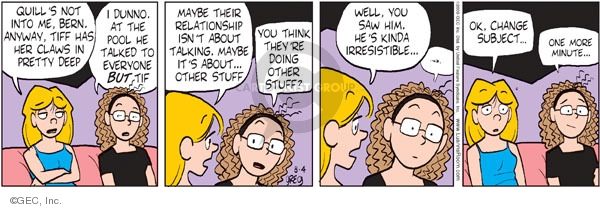 Comic Strip Greg Evans  Luann 2009-08-04 think