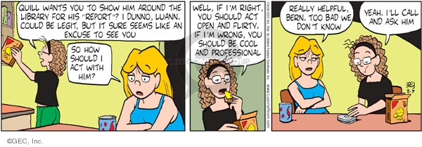Comic Strip Greg Evans  Luann 2009-08-07 date