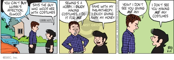 Comic Strip Greg Evans  Luann 2009-08-25 money