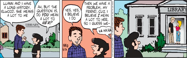 Comic Strip Greg Evans  Luann 2009-08-26 affection