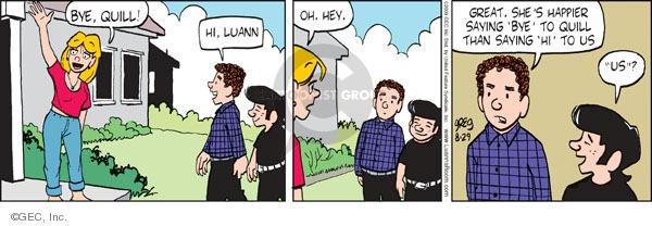 Comic Strip Greg Evans  Luann 2009-08-29 romance