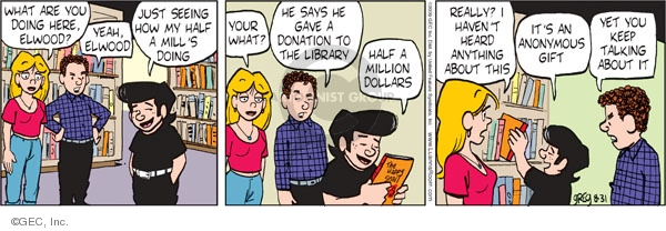 Comic Strip Greg Evans  Luann 2009-08-31 gift