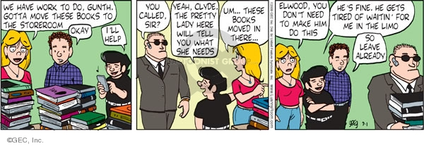 Comic Strip Greg Evans  Luann 2009-09-01 assistance