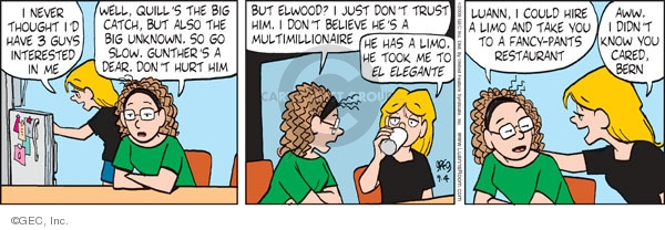 Comic Strip Greg Evans  Luann 2009-09-04 romance