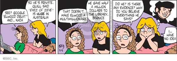 Comic Strip Greg Evans  Luann 2009-09-05 multimillionaire