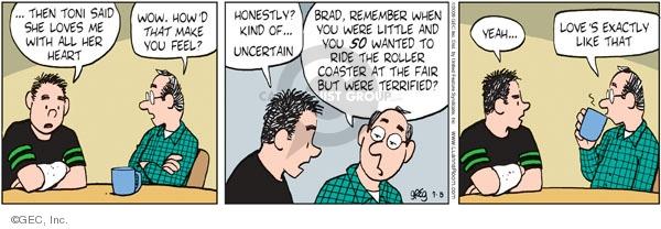 Comic Strip Greg Evans  Luann 2009-09-08 romance