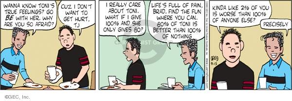 Comic Strip Greg Evans  Luann 2009-09-15 two friends