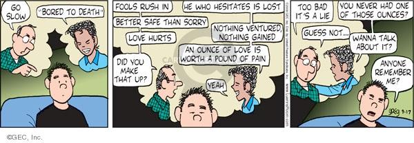 Comic Strip Greg Evans  Luann 2009-09-17 gain