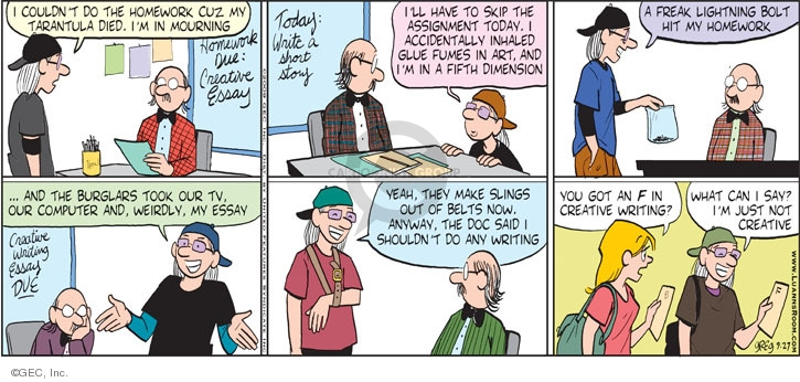 Comic Strip Greg Evans  Luann 2009-09-27 grade school