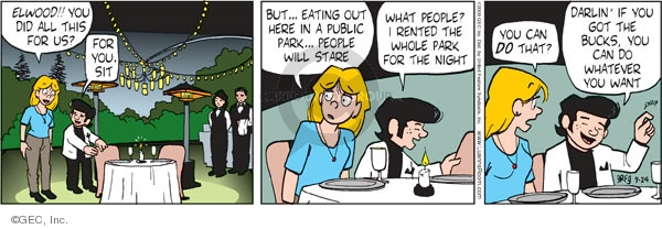 Comic Strip Greg Evans  Luann 2009-09-24 here