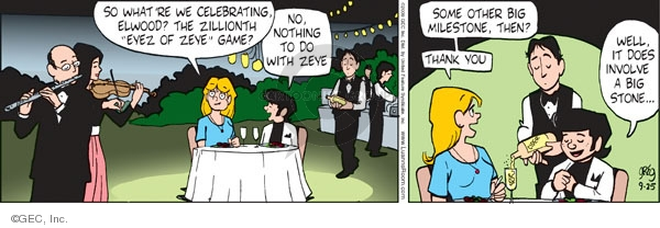 Comic Strip Greg Evans  Luann 2009-09-25 then