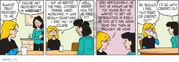 Comic Strip Greg Evans  Luann 2009-09-28 then