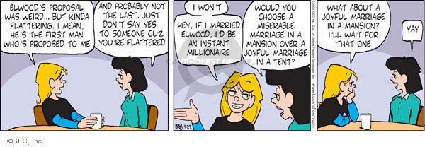 Comic Strip Greg Evans  Luann 2009-09-29 wealth