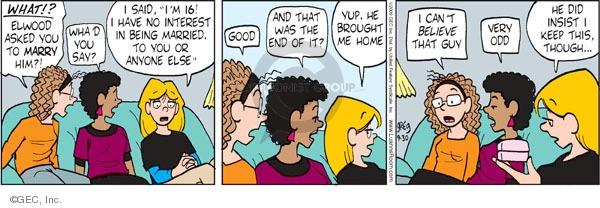 Comic Strip Greg Evans  Luann 2009-09-30 very