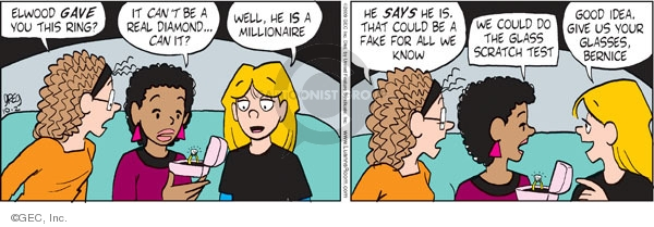 Comic Strip Greg Evans  Luann 2009-10-02 wealth