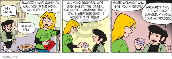 Comic Strip Greg Evans  Luann 2009-10-09 girl