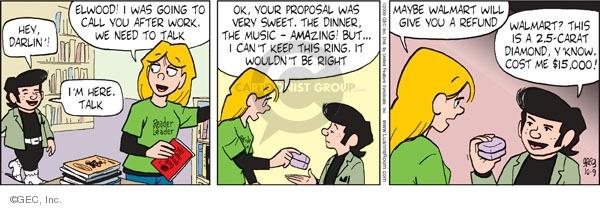 Comic Strip Greg Evans  Luann 2009-10-09 $15