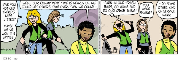 Comic Strip Greg Evans  Luann 2009-10-19 time