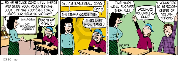 Comic Strip Greg Evans  Luann 2009-10-23 basketball score
