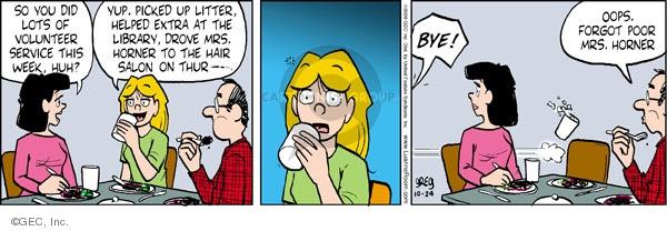 Comic Strip Greg Evans  Luann 2009-10-24 help