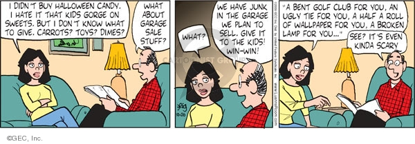 Comic Strip Greg Evans  Luann 2009-10-26 give