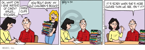 Comic Strip Greg Evans  Luann 2009-10-30 holiday tradition