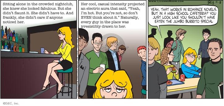 Comic Strip Greg Evans  Luann 2009-11-08 school cafeteria