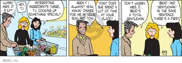Comic Strip Greg Evans  Luann 2009-11-03 Toni