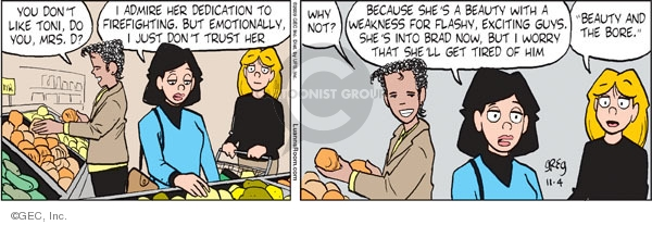 Comic Strip Greg Evans  Luann 2009-11-04 distrust