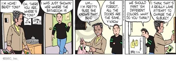 Comic Strip Greg Evans  Luann 2009-11-06 Toni