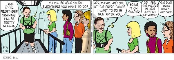 Comic Strip Greg Evans  Luann 2009-11-12 community activism