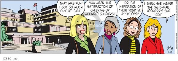 Comic Strip Greg Evans  Luann 2009-11-14 community activism