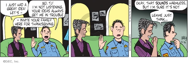 Comic Strip Greg Evans  Luann 2009-11-16 Thanksgiving family
