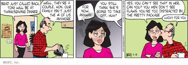 Comic Strip Greg Evans  Luann 2009-11-19 Thanksgiving family
