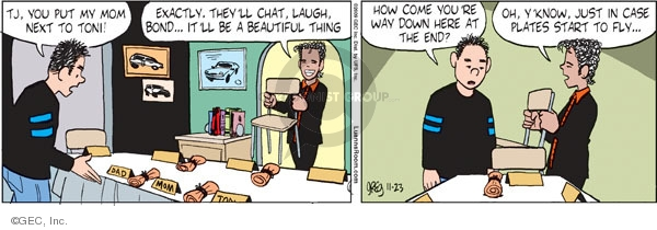 Comic Strip Greg Evans  Luann 2009-11-23 Thanksgiving