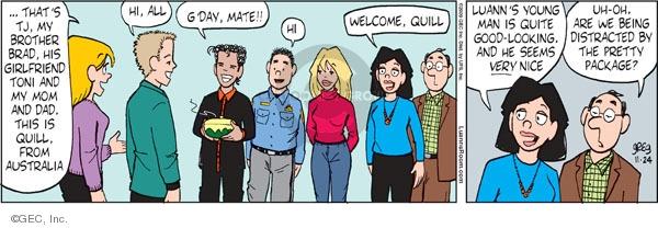 Comic Strip Greg Evans  Luann 2009-11-24 Thanksgiving family