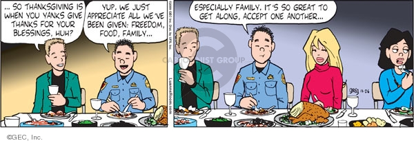 Comic Strip Greg Evans  Luann 2009-11-26 Thanksgiving