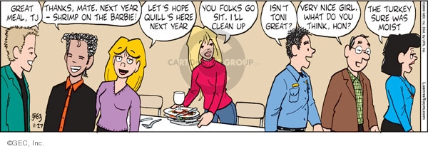 Comic Strip Greg Evans  Luann 2009-11-27 Thanksgiving
