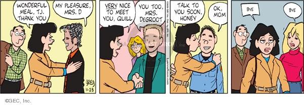 Comic Strip Greg Evans  Luann 2009-11-28 Thanksgiving family