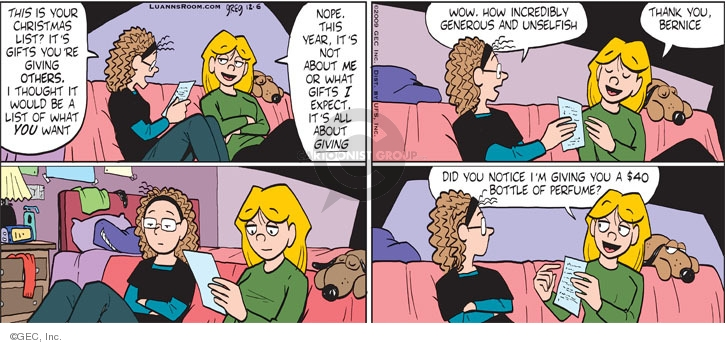 Comic Strip Greg Evans  Luann 2009-12-06 expect