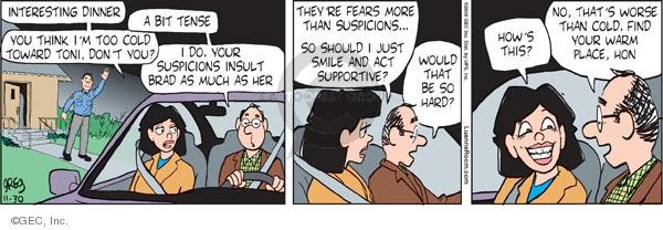 Comic Strip Greg Evans  Luann 2009-11-30 cold