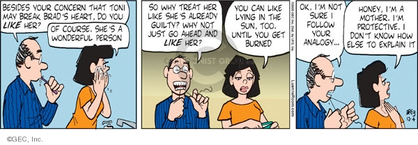 Comic Strip Greg Evans  Luann 2009-12-04 not guilty