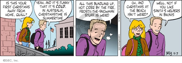 Comic Strip Greg Evans  Luann 2009-12-07 cold