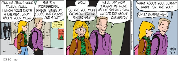 Comic Strip Greg Evans  Luann 2009-12-08 science