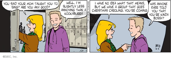 Comic Strip Greg Evans  Luann 2009-12-09 holiday tradition