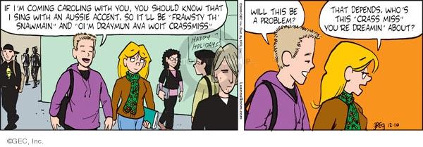 Comic Strip Greg Evans  Luann 2009-12-10 holiday tradition