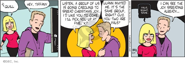 Comic Strip Greg Evans  Luann 2009-12-11 holiday tradition