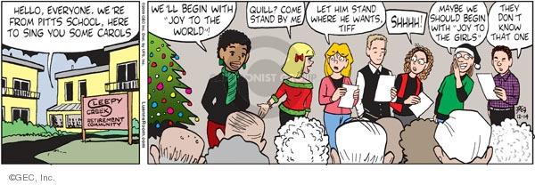 Comic Strip Greg Evans  Luann 2009-12-14 volunteer