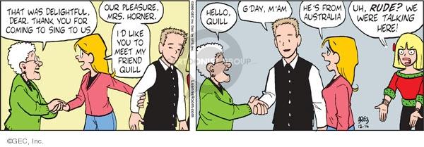 Cartoonist Greg Evans  Luann 2009-12-16 pleasure