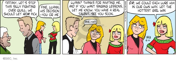 Comic Strip Greg Evans  Luann 2009-12-18 silly